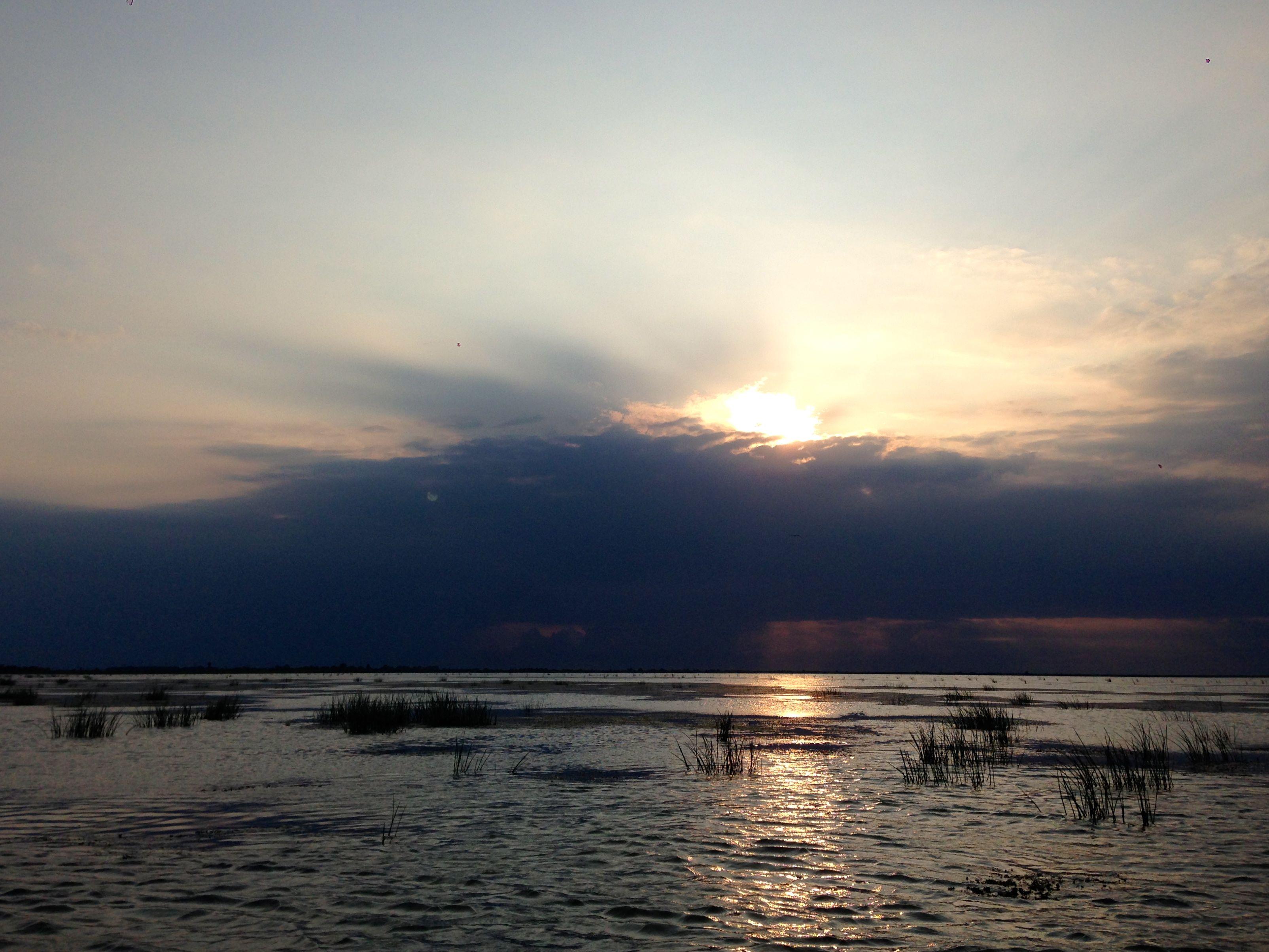 sunset sulina danube delta romania