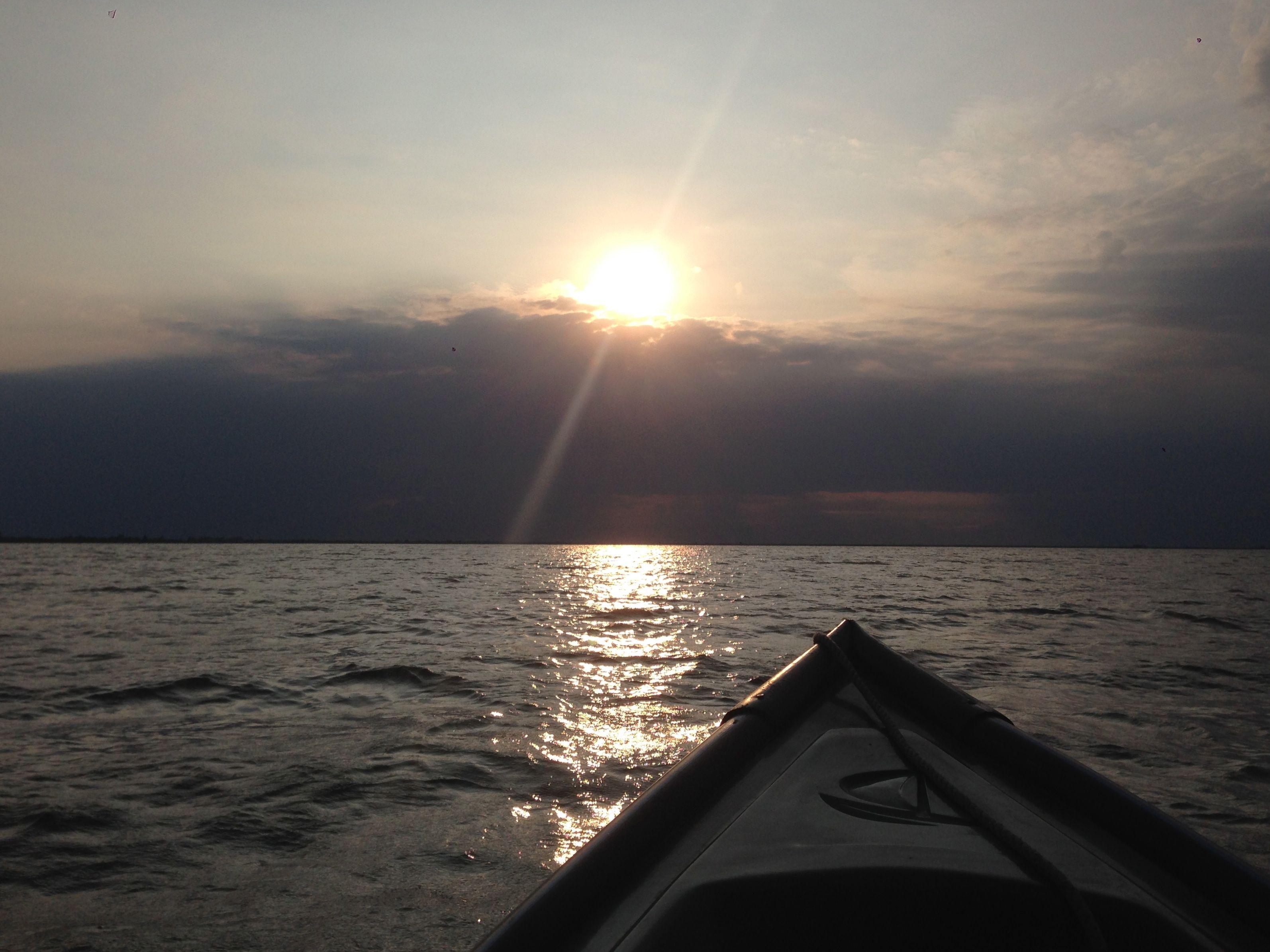 sunset danube delta romania