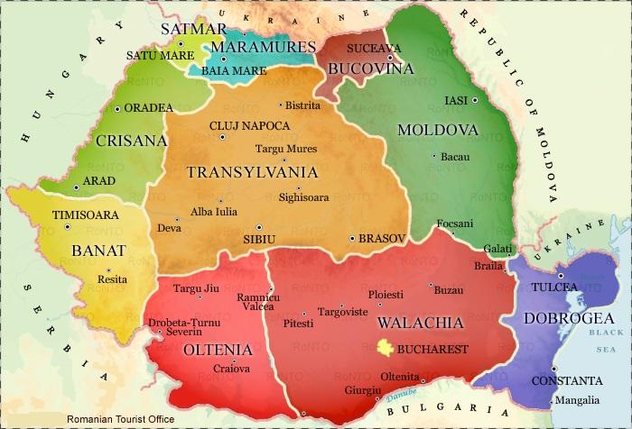 romanian regions